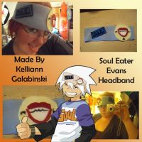 Soul Eater Evans Headband by CupcakeCrafty