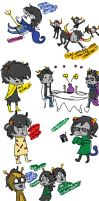 Homestuck: MINISTRIFE!!! sketch dump by musicwitme