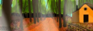 Forest painting by NorthernAnimator