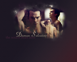 Damon Salvatore by sourissou