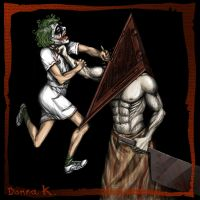 Pyramid Head's Special Nurse by TheTwiggyDance