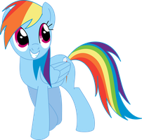 Rainbow Dash is looking (Pony) by Michaelsety