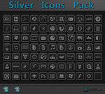 Silver Icon Pack + PSD by WwGallery