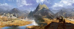 Mountain Hunting Panorama by Tomsleeps
