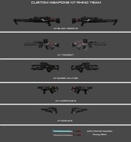 Weapons Concept 1 - Humans by nach77
