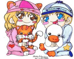 Kitten And Ducky by kai-luver