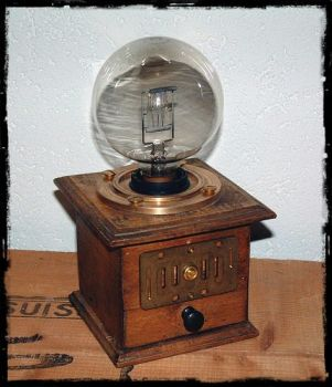 The Steampunk Lamp  -Eye od Ra- by thechocolatist