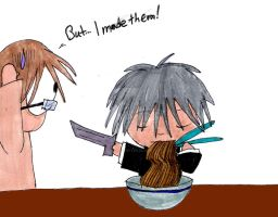 Step Away from the Noodles by InkArtWriter