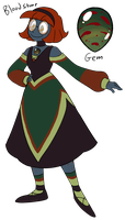 Gemsona: Bloodstone by TerraTerraCotta