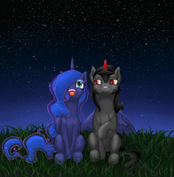With a moon next to you by Holka13