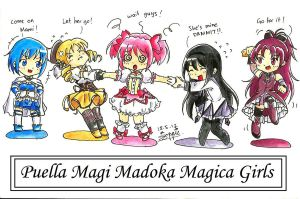 Puella Girls by suppiechan25