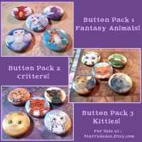 New 1 Inch Button Packs by Starrydance