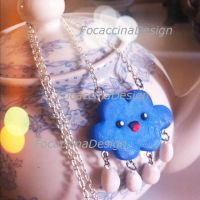 Cute and kawaii cloud necklace by FocaccinaDesign by MGFM