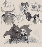 HTTYD fan art doodles by luve