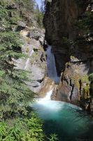 Lower falls Johnston Canyon by sgt-slaughter