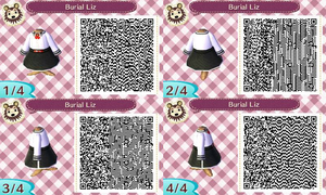 Animal Crossing QR Code Elizabeth Burial at Sea by TeaganLouise
