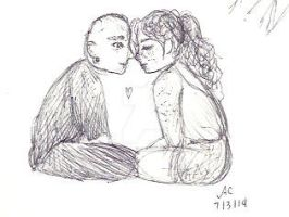Roll - Annette and Ian (Sketchbook) by browneyedanachronism