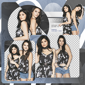 Png Pack 679 // Kendall and Kylie Jenner by confidentpngs