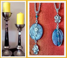 2015 candle hold with pendant not so boring :) by beautiful-hellion