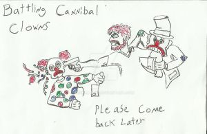 Cannibal Clowns busy sign by Danmaku17