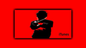 iTunes HD Red Crazy Wall 1366x768 by jSerlinArt