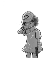 [Doodle] Don't Cry , Clem by mingsong