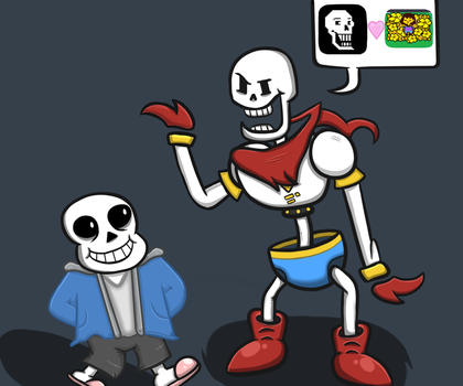 Sans and Papyrus by HashSlash