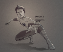 Asa Butterfield The Spectacular Spider-Man Concept by MatthewSwift