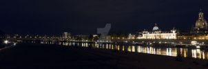 Panorama of Dresden by night by fairytale-gone-bad