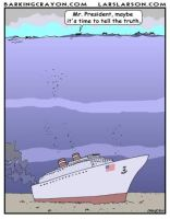 Obama's Truth Ship by Conservatoons
