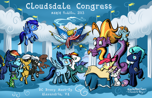 Cloudsdale Congress 2013 by SouthParkTaoist