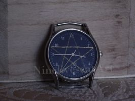 Watch With Pentagram by NinelivescatArt