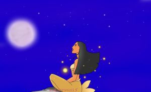 Pocahontas a mermaid by mssConstance15