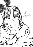 Usopp -uncolored- by OnePieceOfSHiTaKE