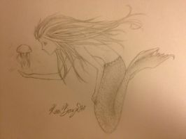 Mermaid - Traditional by Lightbuscus