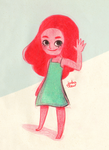 Connie on red pencil by jubalew