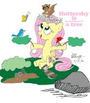 Fluttershy is a Tree (2017 Do-Over) by NewportMuse