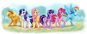 Mane 6 by KP-ShadowSquirrel