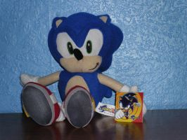 Sonic The Hedgehog Plush by DarkGamer2011