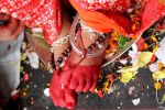 Feet of Living Goddess Kumari by Pramin