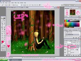 Forest Angel WIP 2 by gothic-anomie