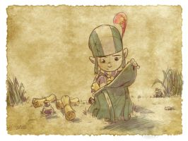 Thomas the Leap Year sketching Elf 7 by D-Gee