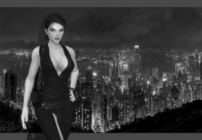 Citylight v2 - black and white by CindyBella