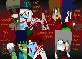 The faces of murder by aki1iniriki
