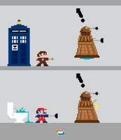 11th Doctor and Mario by J-Castaneda