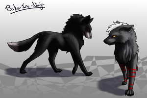 Request: Wolf pair by Baka-Inu-Ninja