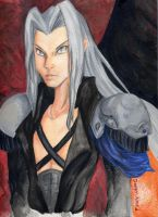 Dissidia Sephiroth - Colored by daggerhime
