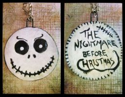 Jack Skellington keychain by serajaa
