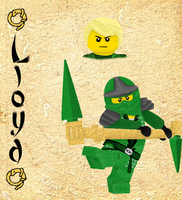 Ninjago Lloyd by jazzlovessilkies