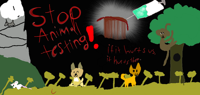 STOP ANIMAL TESTING by lolpops24